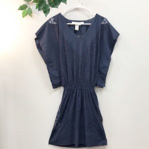 NEW. MAX Studio batwing lace mini dress Small